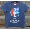 Orchestra Tee Shirt Officiel Football Euro 2016 - Taille 4 ans - Bleu