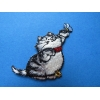 ZZZZZZZZ Ecusson Thermocollant - Motif Chat - 5 cm x 4.5 cm