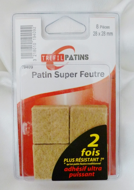 8 patins feutre adh sif 28 x 28 mm beige - Patin anti vibration ...