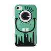 ZZZZZZZZ Coque Monster Turquoise pour iPhone 4/4S - Vert/Blanc