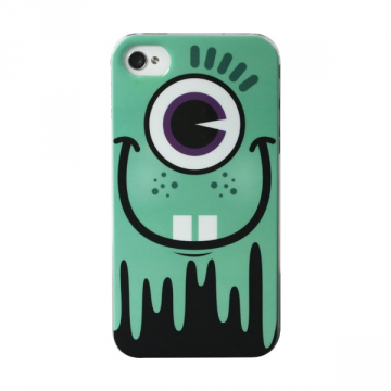 Coque Monster Turquoise pour iPhone 4/4S